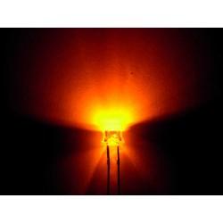 Led orange grand angle 5000mcd