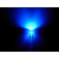 Led bleu grand angle 5000mcd